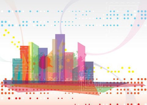 Modern Cityscape - Free vector #215975