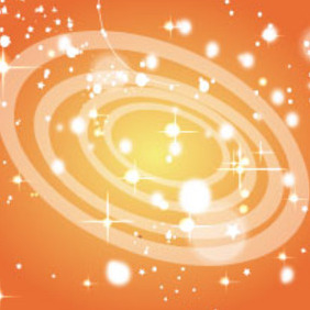Orange Retro Circle Abstract Shinning Vector - Free vector #215985