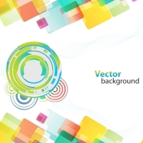 Colorful Background With Different Shapes - vector gratuit #216145
