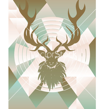 Free polygonal background with deer4 vector - Free vector #216155