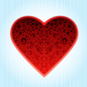 Decorated Heart - vector gratuit #216175
