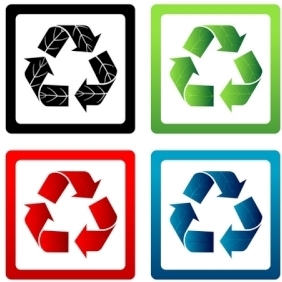 Set Of Vector Recycle Symbols - vector gratuit #216245