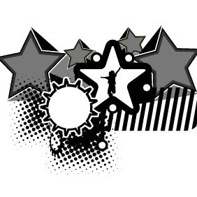 Abstract Black White Background - Free vector #216355