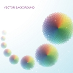 Abstract Vector Background With Circular Patterns - Free vector #216405