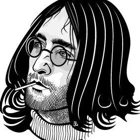 Hippie Face Vector Image - Kostenloses vector #216425