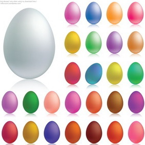Easter Eggs Set 2 - vector gratuit #216455