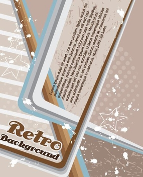 Retro Vector Background - Free vector #216495