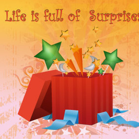 Surprise Box - Free vector #216525