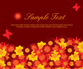 Flowery Layout - Free vector #216535