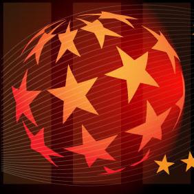 Star Globe Vector - Kostenloses vector #216615