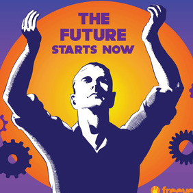 Future Technology Poster - vector #216625 gratis