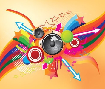 Retro Music - vector gratuit #216705