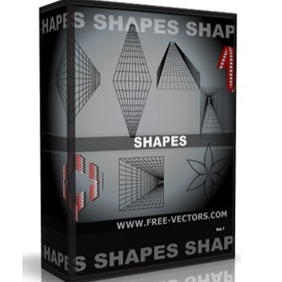 Abstract Perspective Shapes Free Vector Pack - Free vector #216715