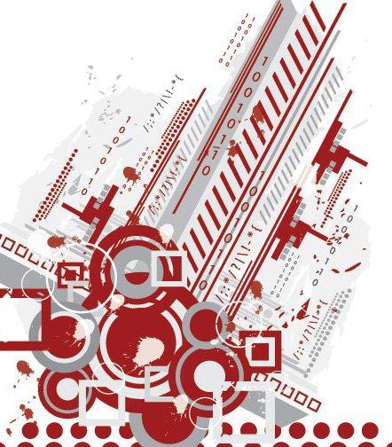 Fundo abstrato Tech - Free vector #216725