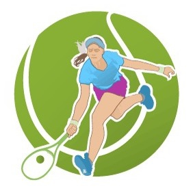 Tennis Player Vector Illustration 2 - Free vector #216985