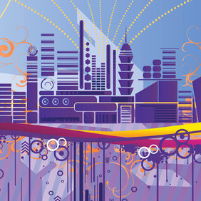 Abstract City Graphics - Free vector #217065