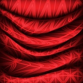 Red Fabric - vector #217125 gratis