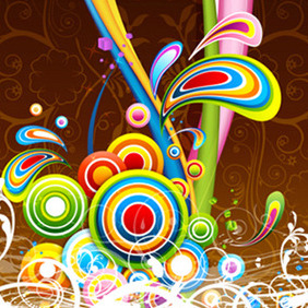 Floral Colorful Background - vector #217135 gratis