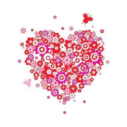 Coeur de fleur - vector gratuit #217325