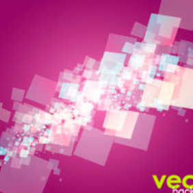 Red Square Design Vector Background - Free vector #217485