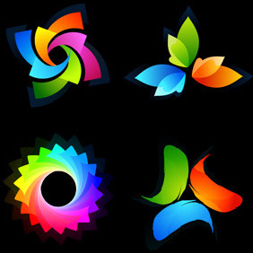 Colorful Logotype Set - Free vector #217495