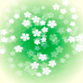 Green Flower Vector Graphic - Kostenloses vector #217625