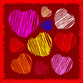 Vector Hearts - Kostenloses vector #217875