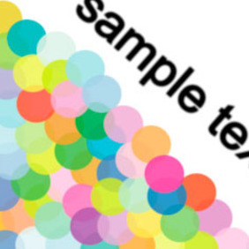 Circle Transparency Colorful Vector Background - Free vector #217905