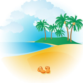 Tropical Beach - Free vector #218035