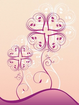Heart flower - Free vector #218105