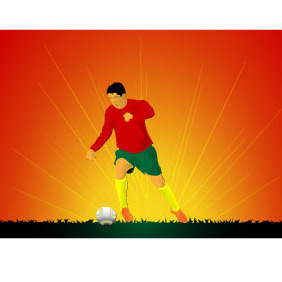 Soccer Player Vector Background - Free vector #218255