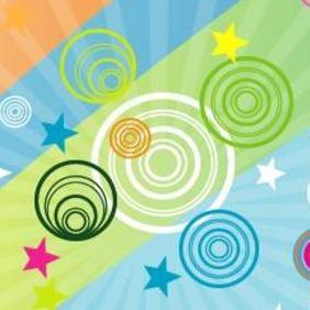 Retro Stars Vector Art Graphic - Free vector #218395