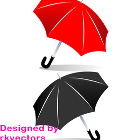 Vector Umbrella Designs - vector gratuit #218475