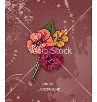 Free floral background vector - Free vector #218485