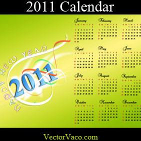 2011 Calendar - Free vector #218515