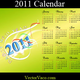 2011 Calendar - vector gratuit #218515