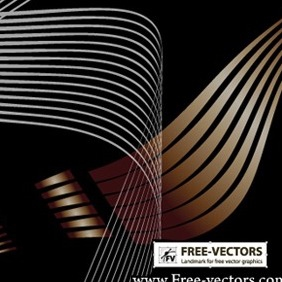 Flowing Curves Vector-1 - vector #218585 gratis