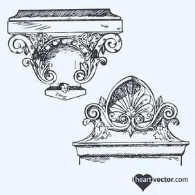 Antique Ornaments Vector Pack - Free vector #218625
