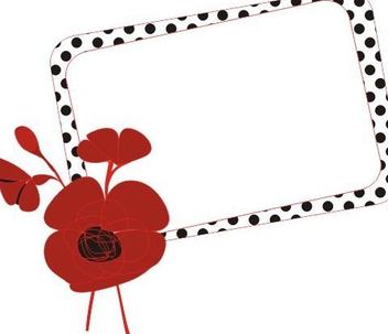 Poppy Frame - Free vector #218645