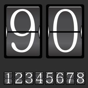 Beautiful Mechanical Scoreboard Vector - Free vector #218725
