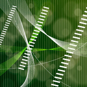Green Lines Graphic - vector gratuit #218755