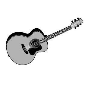 Acoustic Guitar Vector - Free vector #218915