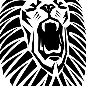 Roaring Lion Vector Image - Free vector #219095