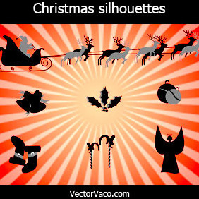 Christmas Silhouettes - Free vector #219245