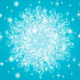 Blue Ornament Free Vector Illustration - Free vector #219445