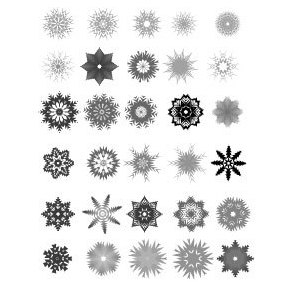 30 Vector Snowflakes - Free vector #219485