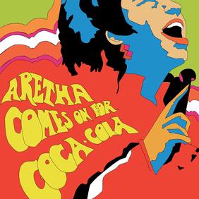 Aretha Franklin Coca-Cola Poster - бесплатный vector #219535