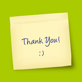 Thank You Note - Free vector #219595