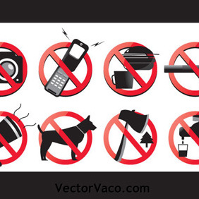 Vector Prohibited Signs - Free vector #219645