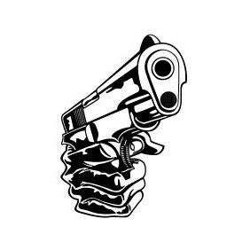 Gun In Hand Vector - Free vector #219685
